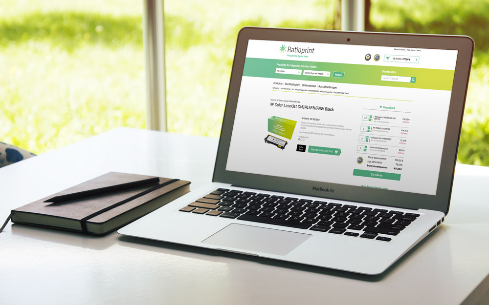 hRatioprint Webshop Design