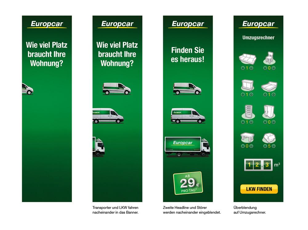 Europcar – Umzugsplaner als interaktives Werbebanner