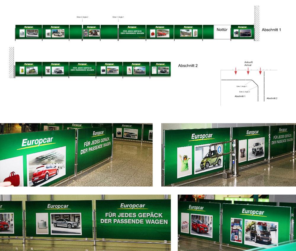 Europcar – Welcome Branding am Frankfurter Flughafen